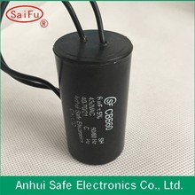 Wholesale high quality cbb61 motor starting capacitor with able wire type use for ceiling fan
