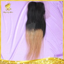Bleached Knots Human Hair Lace Closure Free Parting Virgin Brazilian Straight Hair Lace Closure