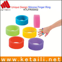 Hot Products Trends 2015 to Sell OEM Personalized Silicone Finger Rings Custom Made in China
