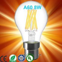 360 degree E27 4W/6W/ 8W Glass A60 led Copper filament bulb