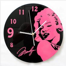 classic design home decoration glass wall clock(HD-8001)