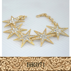 Fancylove Jewelry factory price popular sold star fashion ladies bracelet and necklace set