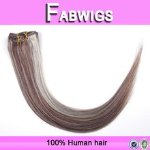 Fabwigs fast shipping large stock color 2-613 virgin malaysian hair extensions clip in