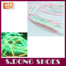 el último de fluorescencia cordón de zapatos al por mayor