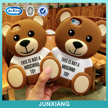 Alibaba china 3D bear soft silicon rubber phone case for iphone 6
