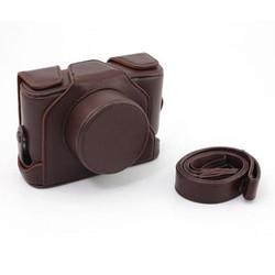 Leather Strap Camera Case Bag X10 X20 Dark Brown Digital camera cases Bags For Fuji Fujifilm