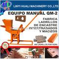 Clay bloco que faz a máquina qmr2-40 máquina de fazer tijolos de barro