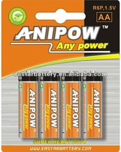 Dry Cell Carbon battery 1.5V AA size R6P Battery