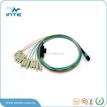 MPO patch cord hydra MPO APC to 12 LCAPC on 0.9mm buffered SM fiber, 0.5m