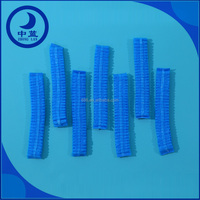 Nonwoven Medical Bouffant Nurse Head Caps with Elastice Band