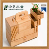 Custom logo and color vintage solid wooden tool box special design