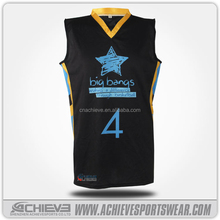 100% Polyester basketball jersey with custom logo & name