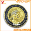 Customized dual plated coin with polyresin/Collection coin with soft enemal