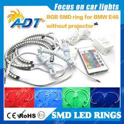 Multi-Color RGB LED Angel Eye Halo Rings For BMW E46 3 5 7 Series Headlight