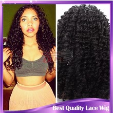 7a grade hair front lace wig chinese virgin hair lace wig human hair curly wig for black women