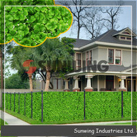 Decorative cheap artificial boxwood hedge fence ball for home garden