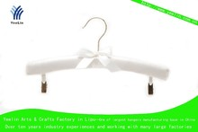 High quality, cheap price, children fashion clothes fabric hanger YLFBK009-S1 for supermarket, wholesaler with shiny chrome hook