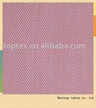 100% cotton plain dyed herringbone garment fabric