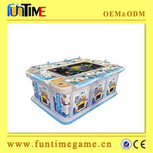 Electronic indoor commercial fishing shooting arcade game machine for game center