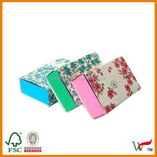 Floral print on White Match box and artpaper sleeve box for packaging with candy