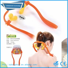 new products adjustable plastic hand held shiatsu neck and back massager rubber, hand held neck pain therapy massager
