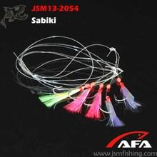 Coloridas plataformas Sabiki pesca pluma al por mayor con JSM13-2054 gancho
