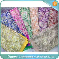 Polyester tulle lace with stones wholesale beaded lace fabric