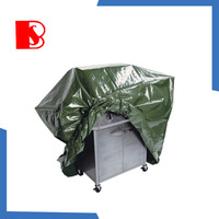 2015 high quality colorful bbq grill cover new design pe calendering bbq grill cover