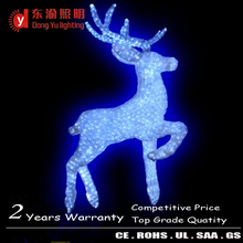 outdoor waterproof xmas decorations abs acrylic 3d LED motif lights(reindeer light wreath light)