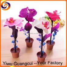 Plastic flower pot plant ball pen