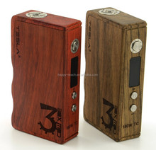 Tesla wood box mod 160w TC 200-600C 7-160W updated vaporizer 120w tesla ivader wood mod Tesla TC 160W