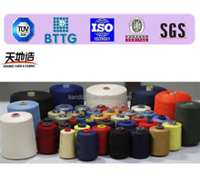 Fire resistant aramid yarns and sewing thread for coveralls and firemen clothing