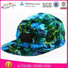 100%cotton fabric flat brim 5 panel wool cap and hat