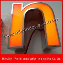 Doble wall wash exterior light led letter sign