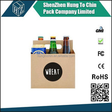Hungtochin Pack Direct factory wholesale custom printed cardboard 6 pack bottle beer carriers
