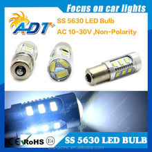 Hot Sales BA15S BAU15S 1156 5630 LED Bulb 15 Leds With Lens Auto Parts
