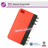 High quality leather wallet case for iphone 5