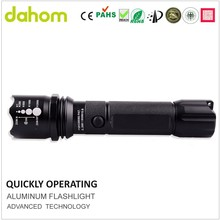 Zoom high light charge rechargeable torch led aluminum flashlight