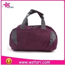 high quality canvas duffel bag with custom logo, sport duffel bag with pink handles, travel duffel bag with heat-transfer logo