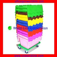 Heavy Duty 50kgs Storage Bin Moving Plastic Stacking Crates