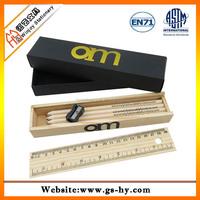 ECO wooden color pencil set with sharpener and eraser