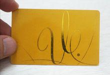 Plain Gold Stamping Card, Plastic Rfid Membership Card, T5577 Rfid Card
