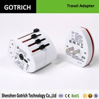 2015 Phone Accessories All in One Universal Worldwide Travel 5V 2.1A Dual USB Port Power Adapter AU UK US EU Plug OEM Welcome