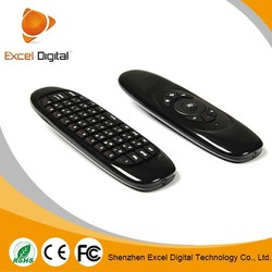 2014 top sale 2.4Ghz 3D Portable Air Mouse Remote Control mini MAC Compatible Wireless Keyboard