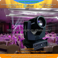 8500K Color Temperature(CCT) and White Emitting Color 230w sharpy 7r beam moving head light