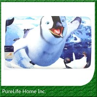Penguin Digital Printed Memory Foam Bath Rug