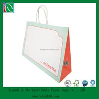 2015 white printed kraft paper bag manufacturers