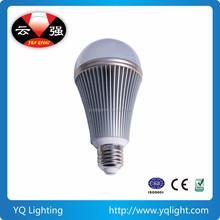 9W Silver Aluminum LED Bulb Ceiling Lighting