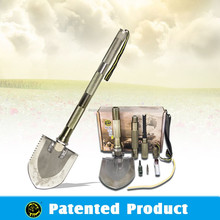 HOT! Hi-carbon steel Shovel outdoor survival equipment emergency car tool kit with camping knife