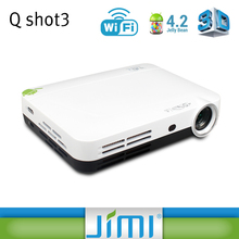 JIMI HD mini portable projector media player/laser dlp projector for iphone/China made pocket projector Q3